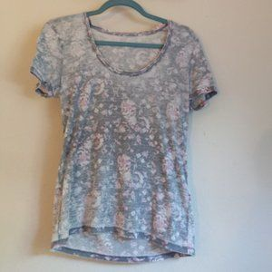 Lucky Brand Floral Scoopneck T-Shirt